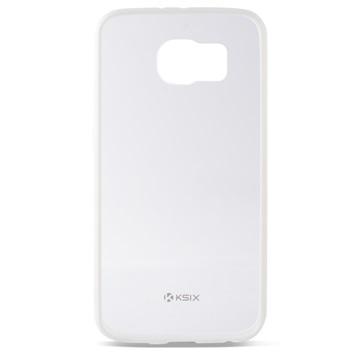 Samsung Galaxy S6 Ksix Fusion TPU Case Doorzichtig / Wit