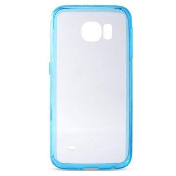 Samsung Galaxy S6 Ksix UltraSlim TPU Case Doorzichtig / Blauw