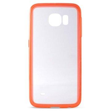 Samsung Galaxy S6 Ksix UltraSlim TPU Case Doorzichtig / Rood
