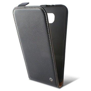Samsung Galaxy S6 Ksix Vertical Flip Case Zwart
