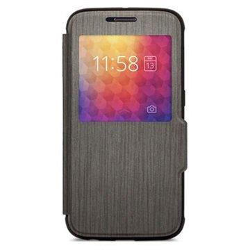 Samsung Galaxy S6 Moshi SenseCover Flip Case Zwart