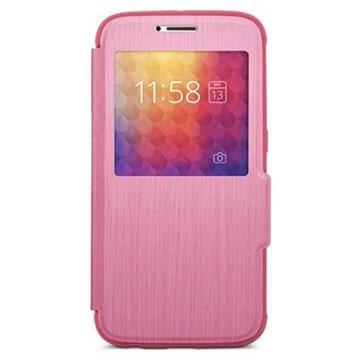 Samsung Galaxy S6 Moshi SenseCover Flip Case Roze