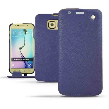 Samsung Galaxy S6 Noreve Tradition Flip Leren Case Ambition Indigo