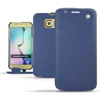Samsung Galaxy S6 Noreve Traditionele Lederen Flip Case Ambition Indigo