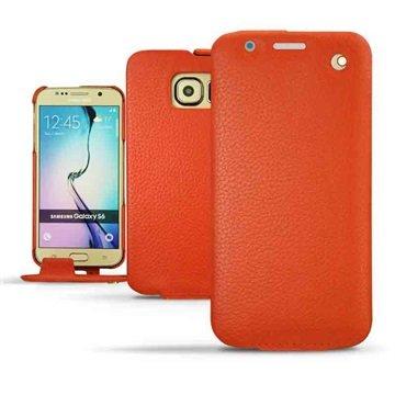 Samsung Galaxy S6 Noreve Traditionele Lederen Flip Case Ambition Papaya