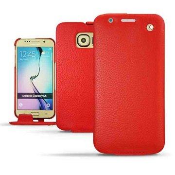 Samsung Galaxy S6 Noreve Traditionele Lederen Flip Case Ambition Tomaat