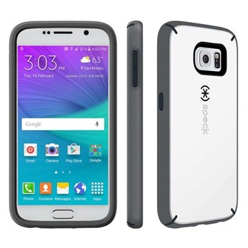 Samsung Galaxy S6 Speck MightyShell Cover Wit / Slate Grijs