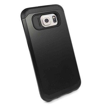 Samsung Galaxy S6 Tuff-luv Armour Hard Cover Zwart
