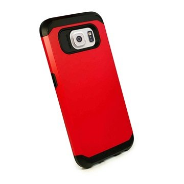 Samsung Galaxy S6 Tuff-luv Armour Hard Cover Rood
