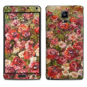Dit is geen cover, dit is een decoratieve beschermde skin sticker!samsung galaxy note 4 fleurs sauvages skin  ...