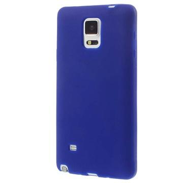 Siliconen hoesje voor samsung galaxy note 4   donkerblauw  met een perfecte pasvorm en een modern uiterlijk ...