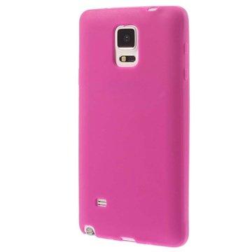 Samsung Galaxy Note 4 Siliconen Hoesje Hot Pink