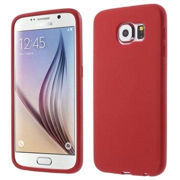 Samsung Galaxy S6 Siliconen Hoesje Rood