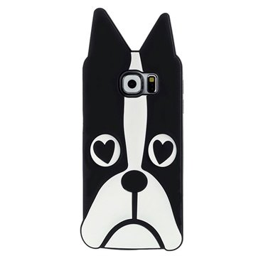 Samsung Galaxy S6 Siliconen Hoesje Hond