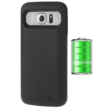 Samsung Galaxy S6 Slim-Fit Backup Batterij Case Zwart