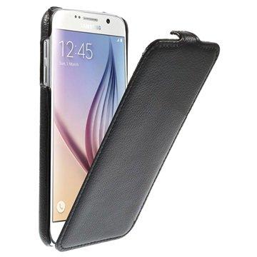 Samsung Galaxy S6 Slim Verticale Flip Case Zwart