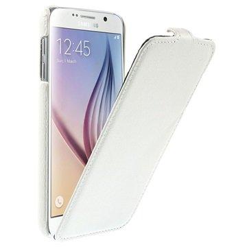 Samsung Galaxy S6 Slim Verticale Flip Case Wit