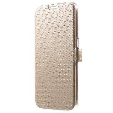 Samsung Galaxy S6 Slim Wallet Hoesje Goud
