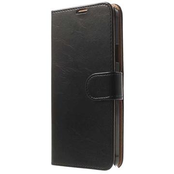 Samsung Galaxy Note 4 Slim Wallet Leren Hoesje Zwart