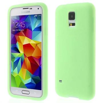 Siliconen hoesje voor samsung galaxy s 5   groen. deze beschermende en stijlvolle siliconen case is geschikt ...