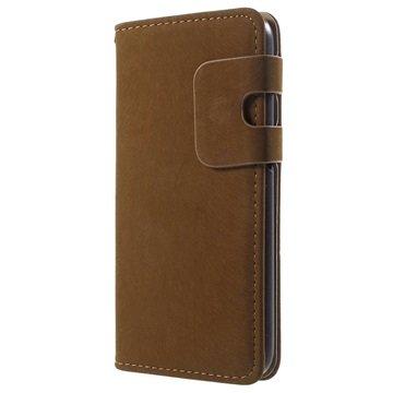 Samsung Galaxy S6 Zachte Wallet Hoesje Bruin