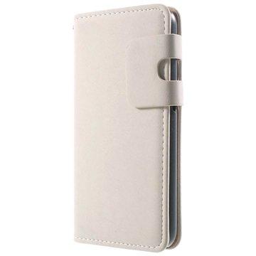 Samsung Galaxy S6 Zachte Wallet Hoesje Ivory