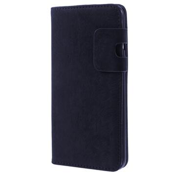 iPhone 6 Plus / 6S Plus Zachte Wallet Leren Hoesje Donkerblauw