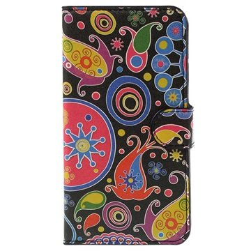 Samsung Galaxy J5 Stylish Wallet Hoesje Paisley Motief