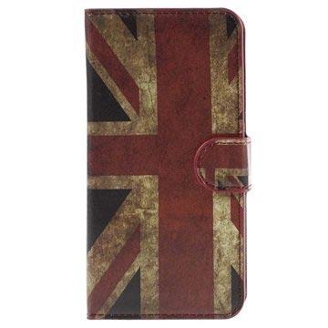 Samsung Galaxy J5 Stylish Wallet Hoesje Union Jack