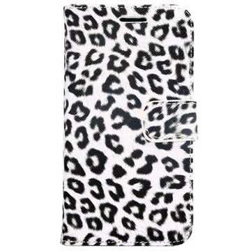 Samsung Galaxy S6 Wallet Hoesje - Luipaard Wit