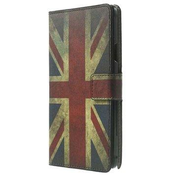 Samsung Galaxy Note 4 Stylish Wallet Leren Hoesje Union Jack