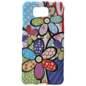 Tpu case voor samsung galaxy alpha   kleurrijke bloemen  breng uw toestel tot leven met deze kleurrijke tpu ...