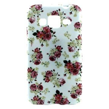 Tpu case voor samsung galaxy core prime   rozen  breng uw toestel tot leven met deze kleurrijke tpu case....