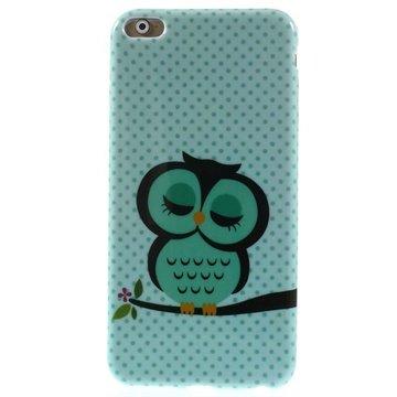 iPhone 6 Plus / 6S Plus TPU Case Groen / Uil