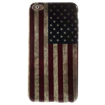 iPhone 6 Plus / 6S Plus TPU Case Vintage American Flag