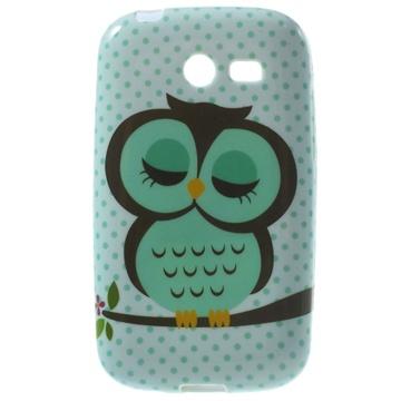 Tpu case voor samsung galaxy pocket 2   uil  breng uw toestel tot leven met deze kleurrijke tpu case....