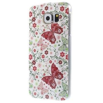 Samsung Galaxy S6 TPU Case Vlinders / Bloemen