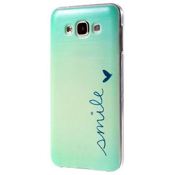 Tpu case voor samsung galaxy e 7   smile  breng uw toestel tot leven met deze kleurrijke tpu case.