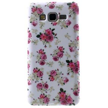 Tpu case voor samsung galaxy grand prime   rozen  breng uw toestel tot leven met deze kleurrijke tpu case....