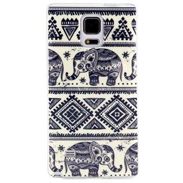 Samsung Galaxy Note 4 TPU Case Tribal Olifant
