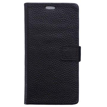Samsung Galaxy S6 Active Textured Wallet Leren Hoesje Zwart