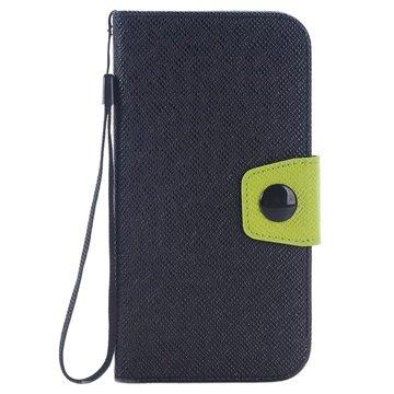 Samsung Galaxy S6 Two-Tone Wallet Hoesje Zwart / Groen