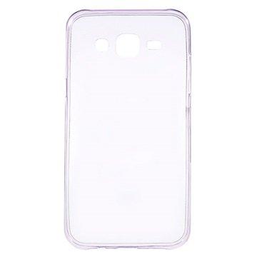 Samsung Galaxy J5 Ultra Dunne TPU Case Paars