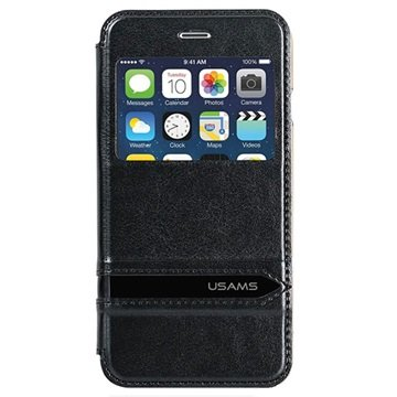 iPhone 6 Plus / 6S Plus Usams Merry Series View Flip Case Zwart