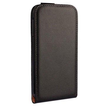 Samsung Galaxy S6 Flip Leren Case Zwart