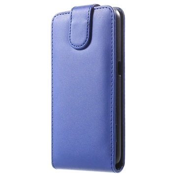 Samsung Galaxy S6 Verticale Flip Case Blauw