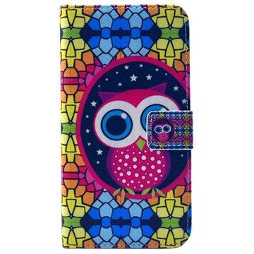 Samsung Galaxy S6 Wallet Hoesje Uil