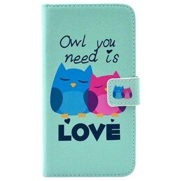 Samsung Galaxy S6 Wallet Hoesje Owl You Need Is Love