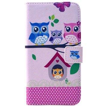 Samsung Galaxy S6 Wallet Hoesje Owl Family