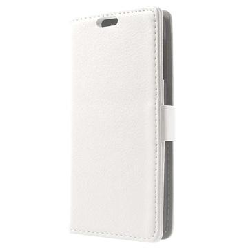 HTC Desire 510 Wallet Leren Hoesje Wit